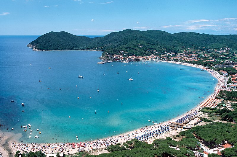 The beach of Marina di Campo